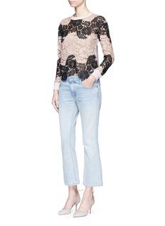alice + olivia'Jesse' floral guipure lace wool sweater