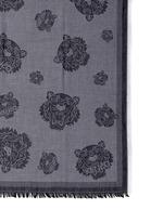 Tiger head print modal-cotton scarf