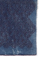 'Flying Kenzo' logo denim effect scarf
