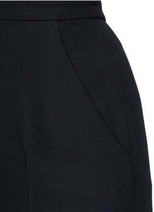 Detail View - Click To Enlarge - Valentino - Open back Couture strapless silk jumpsuit
