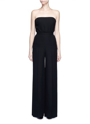 Main View - Click To Enlarge - Valentino - Open back Couture strapless silk jumpsuit