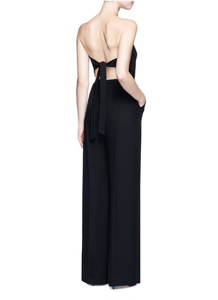 Figure View - Click To Enlarge - Valentino - Open back Couture strapless silk jumpsuit