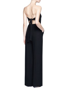 Valentino Open back Couture strapless silk jumpsuit
