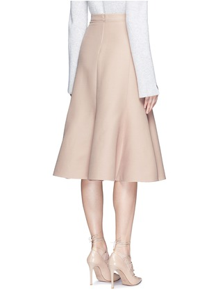 Back View - Click To Enlarge - Valentino - Wool-silk Crepe Couture skirt