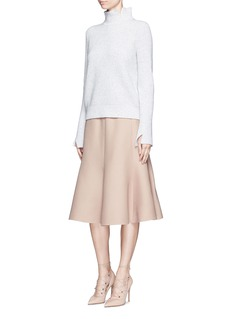 VALENTINO Wool-silk Crepe Couture skirt