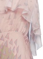 Geometric tribal print silk chiffon dress
