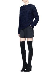 ValentinoEmbellished virgin wool-cashmere sweater