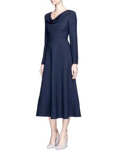 ValentinoCowl neck Crepe Couture dress