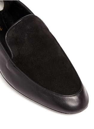 Detail View - Click To Enlarge - Robert Clergerie - 'Fani' suede vamp lambskin leather loafers