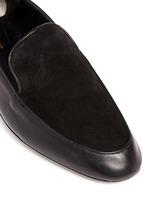 'Fani' suede vamp lambskin leather loafers