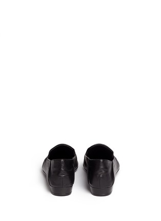 Back View - Click To Enlarge - Robert Clergerie - 'Fani' suede vamp lambskin leather loafers