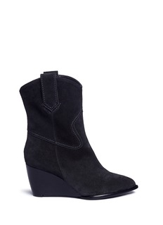 Robert Clergerie 'Ogue' suede wedge cowboy boots
