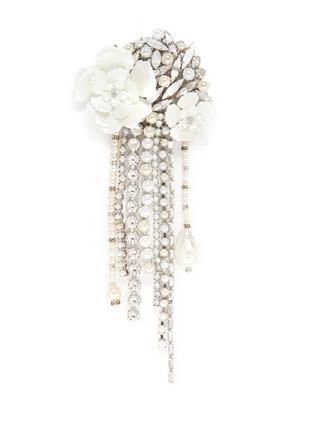 Erickson Beamon-'Winter Wonderland' Swarovski crystal pearl floral brooch