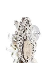 'Winter Wonderland' Swarovski crystal floral cluster earrings