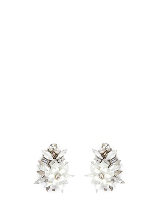 Main View - Click To Enlarge - Erickson Beamon - 'Winter Wonderland' Swarovski crystal floral cluster earrings