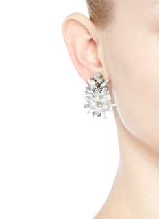 ERICKSON BEAMON'Winter Wonderland' Swarovski crystal floral cluster earrings