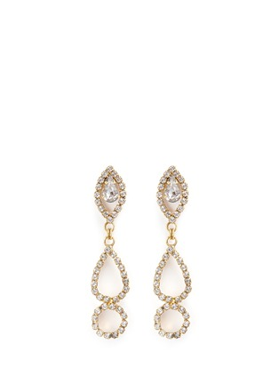 Main View - Click To Enlarge - Erickson Beamon - 'Princess' Swarovski crystal geometric cutout drop earrings