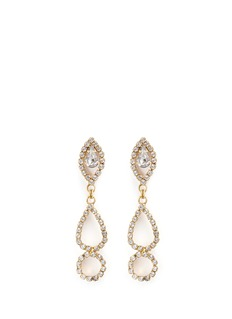 Erickson Beamon 'Princess' Swarovski crystal geometric cutout drop earrings