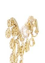 'Princess' Swarovski crystal asymmetric climber and stud earrings