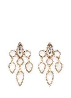 ERICKSON BEAMON 'Princess' Swarovski crystal chandelier drop earrings