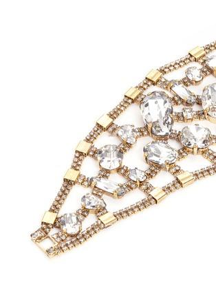 Detail View - Click To Enlarge - Erickson Beamon - 'River Song' Swarovski crystal brass statement bracelet