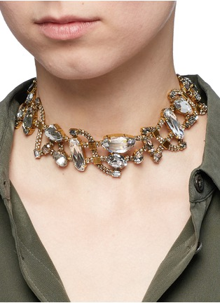 Figure View - Click To Enlarge - Erickson Beamon - 'River Song' Swarovski crystal choker necklace