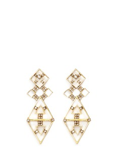 Erickson Beamon 'Geometry One' Swarovski crystal cutout drop earrings