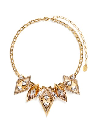 Main View - Click To Enlarge - Erickson Beamon - 'Geometry One' Swarovski crystal statement necklace