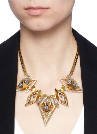 Figure View - Click To Enlarge - Erickson Beamon - 'Geometry One' Swarovski crystal statement necklace