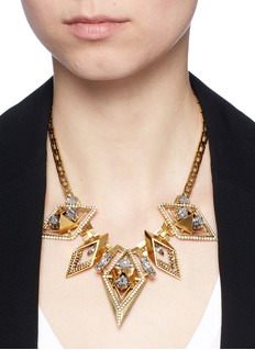 Erickson Beamon 'Geometry One' Swarovski crystal statement necklace