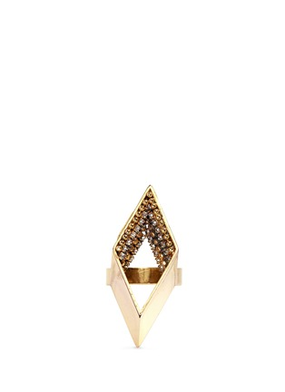 Erickson Beamon - 'Geometry One' crystal pavé cutout diamond ring
