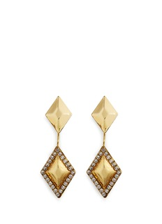 Erickson Beamon 'Smoking' Swarovski crystal rhombus drop jacket earrings