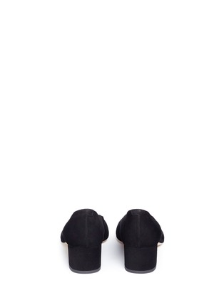Back View - Click To Enlarge - Mansur Gavriel - Suede ballerina pumps