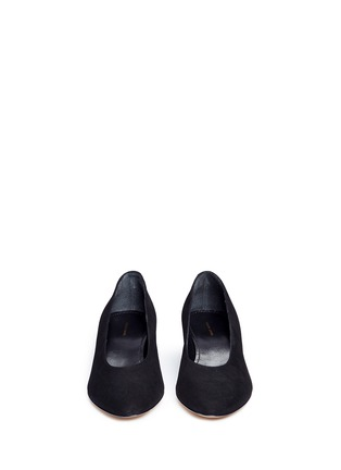 Front View - Click To Enlarge - Mansur Gavriel - Suede ballerina pumps