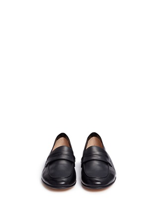Front View - Click To Enlarge - Mansur Gavriel - Calfskin leather loafers