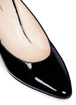 Patent leather pump slippers