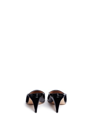 Back View - Click To Enlarge - Mansur Gavriel - Patent leather pump slippers