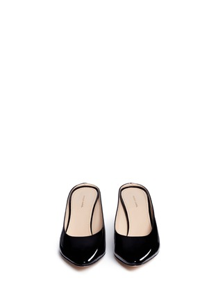 Front View - Click To Enlarge - Mansur Gavriel - Patent leather pump slippers