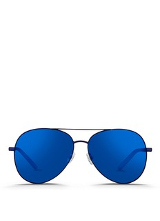 Matthew Williamson Acetate temple aviator mirror sunglasses