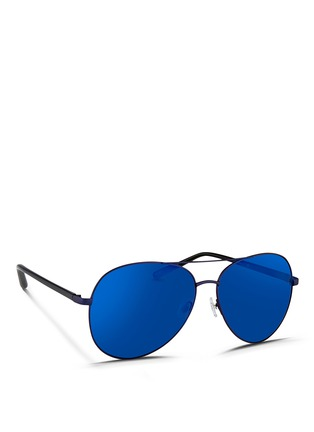 Matthew Williamson - Acetate temple aviator mirror sunglasses