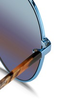 Tortoiseshell acetate temple aviator mirror sunglasses