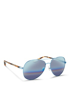 Matthew WilliamsonTortoiseshell acetate temple aviator mirror sunglasses