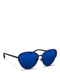 Matthew WilliamsonWire rim cat eye mirror sunglasses