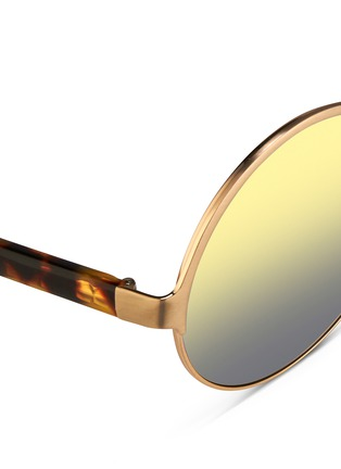 Matthew Williamson - Tortoiseshell acetate temples layered metal mirror sunglasses