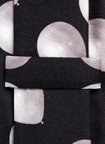 Balloon print silk tie