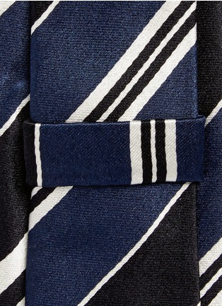 Detail View - Click To Enlarge - Paul Smith - Stripe silk tie