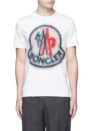 Main View - Click To Enlarge - Moncler - Pixel logo print cotton T-shirt