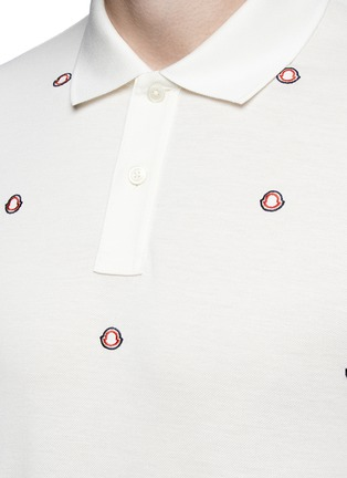 Detail View - Click To Enlarge - Moncler - Logo embroidery polo shirt