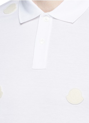 Detail View - Click To Enlarge - Moncler - Empty logo patch polo shirt