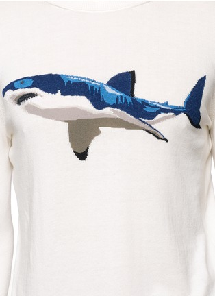 Detail View - Click To Enlarge - Moncler - Shark intarsia cotton sweater